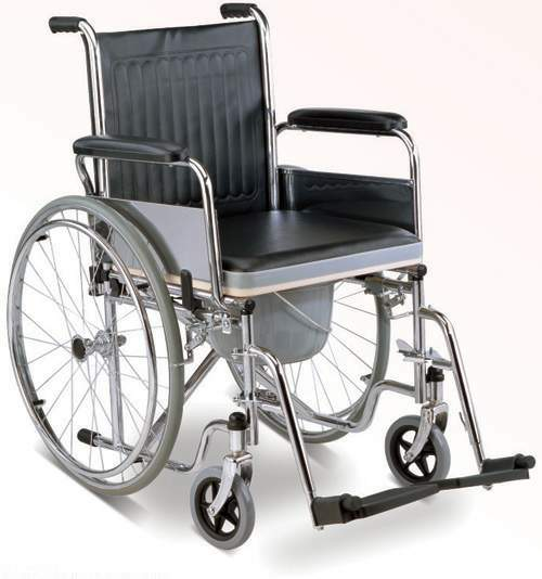 Wheelchair Folding Commode Wheelchair